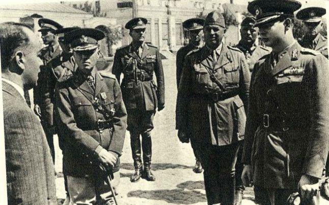 Maresalul Antonescu si regele Mihai