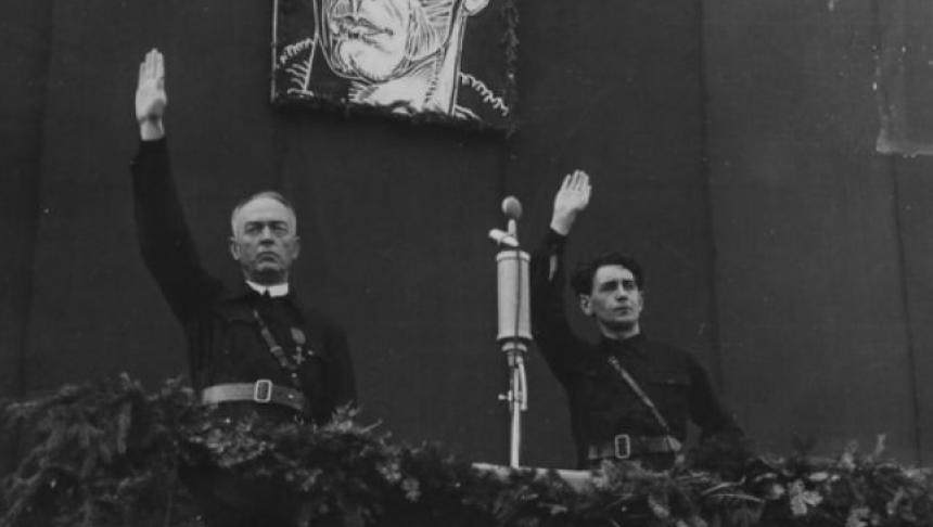 Maresalul Ion Antonescu si Horia Sima