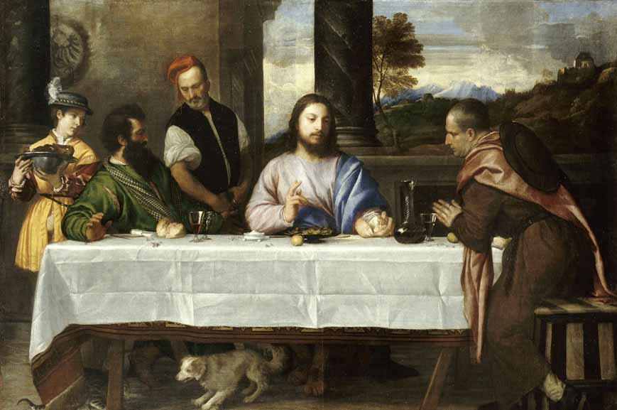 Titian Supper at Emmaus