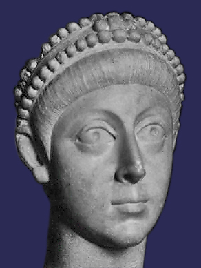 Bustul lui Flavius Arcadius. Foto de Leo2004, sursă Wikipedia.