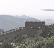 OZN ţigară imensă peste Marele Zid Chinezesc