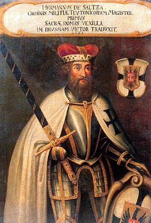 Herman von Salza, Mare Maestru al Ordinului Teutonic, Schatzkammer des Deutschen Ordens, Viena, sursa Wikipedia.