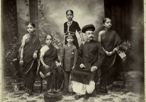 A_Brahmin_family,_Bombay;_photo_by_Taurines,_c.1880