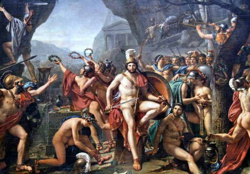 Léonidas_aux_Thermopyles_(Jacques-Louis_David)
