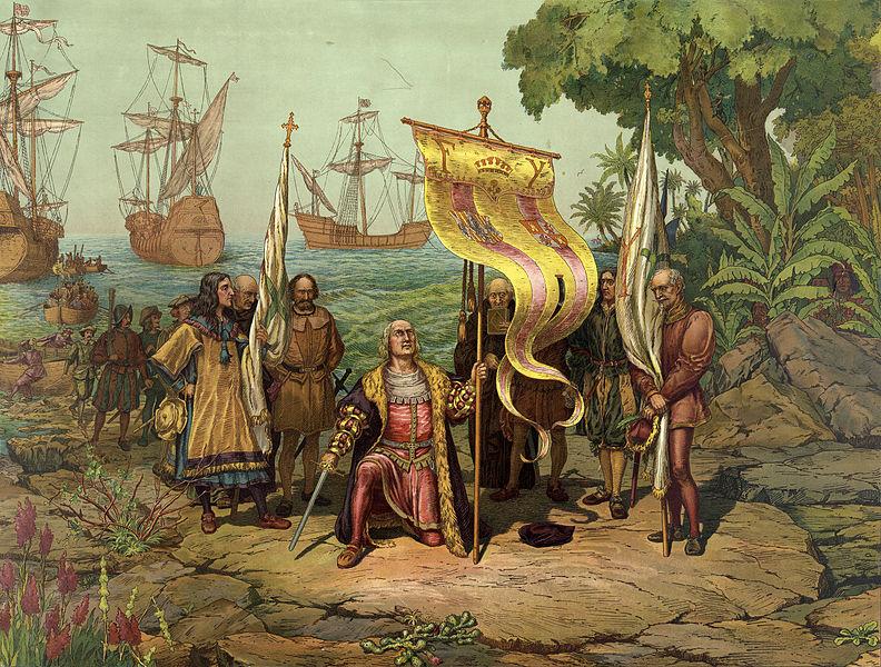 Sosirea lui Columb in America sursa Wikipedia
