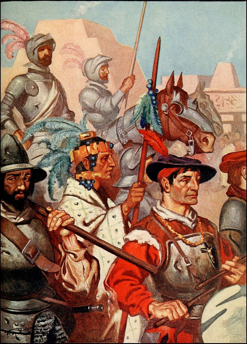 800px-ROHM_D201_The_conquistadors_enter_tenochtitlan_to_the_sounds_of_martial_music