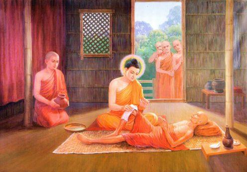 buddha_and_ananda_washes_sick_monk